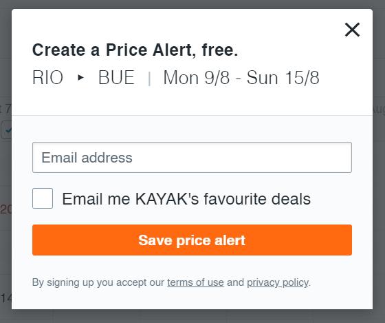 site do Kayak