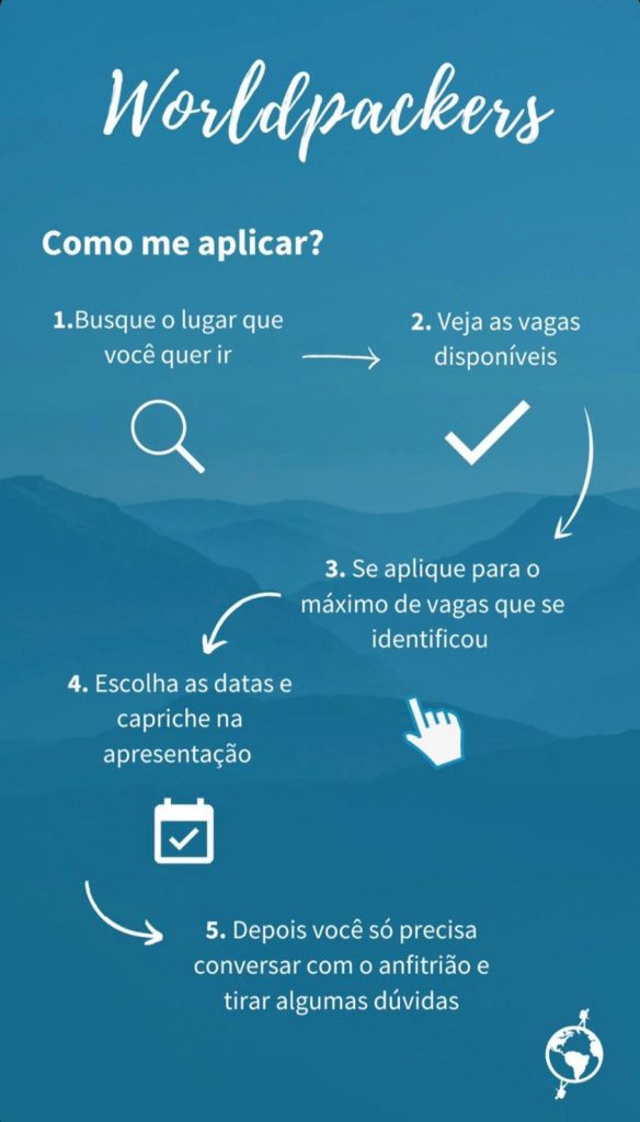 como se candidatar vagas Worldpackers